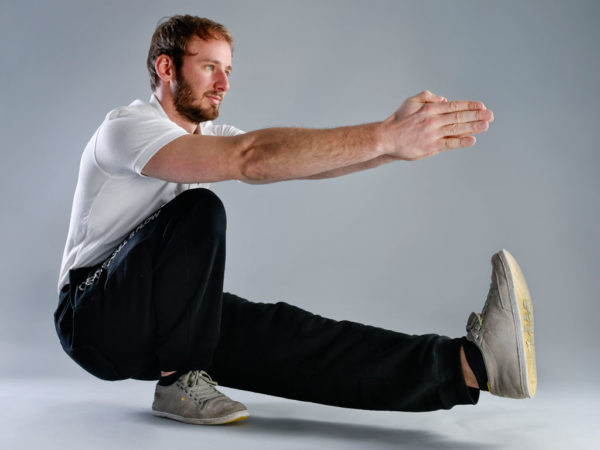 Beintraining ohne Geräte, Single leg Squat